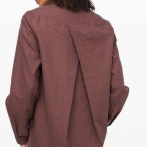 Lululemon Full Day Ahead Flannel Shirt Sz.